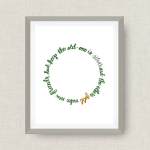 Make New Friends Art print - Girl Scouts, option of foil