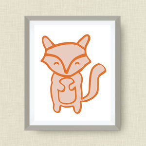 Fox Art Print - Custom Nursery Art