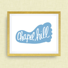 Chapel Hill North Carolina Art Print - Tar Heel