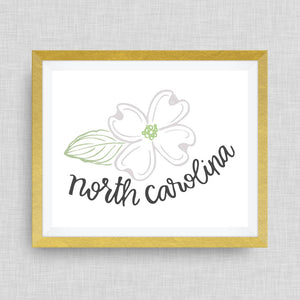 Dogwood - North Carolina Art Print