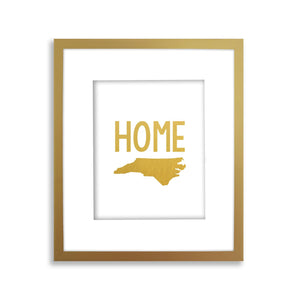 Home State Art Print, Gold Foil State Print