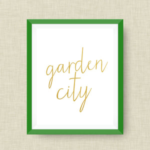 Augusta Georgia Art Print, option of Gold Foil Print