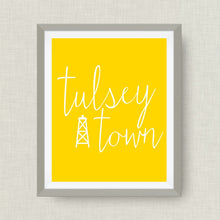 Tulsa Oklahoma Art Print, Tulsey Town, option of Gold Foil Print