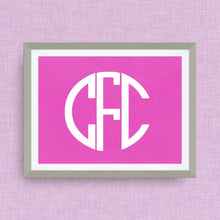 monogram print, option of gold foil or color foil print