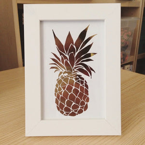 Pineapple Art Print - Option of Real Gold Foil