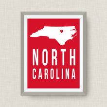 NC State Art Print - NCSU - North Carolina Art Print in NCSU Colors