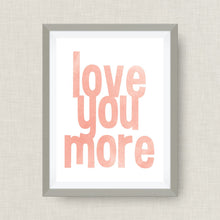watercolor wall art - love you more
