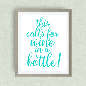 This Calls for Wine in Bottle!, Option of Real Gold Foil