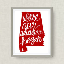 alabama art print - where our adventure began (TM)