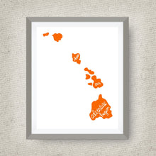 Hawaii Art Print - Where Our Adventure Began (TM), Hand Lettered, option of Gold Foil, Wedding Art