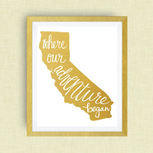 california art print - where our adventure began (TM)