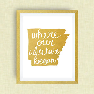 Arkansas Art Print - Where Our Adventure Began (TM)