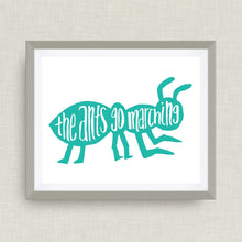 The Ants Go Marching- Custom Nursery Art - Pick your colors!