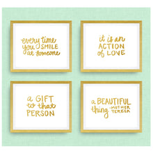 Mother Teresa quote - set of 4 prints - Pick your colors!