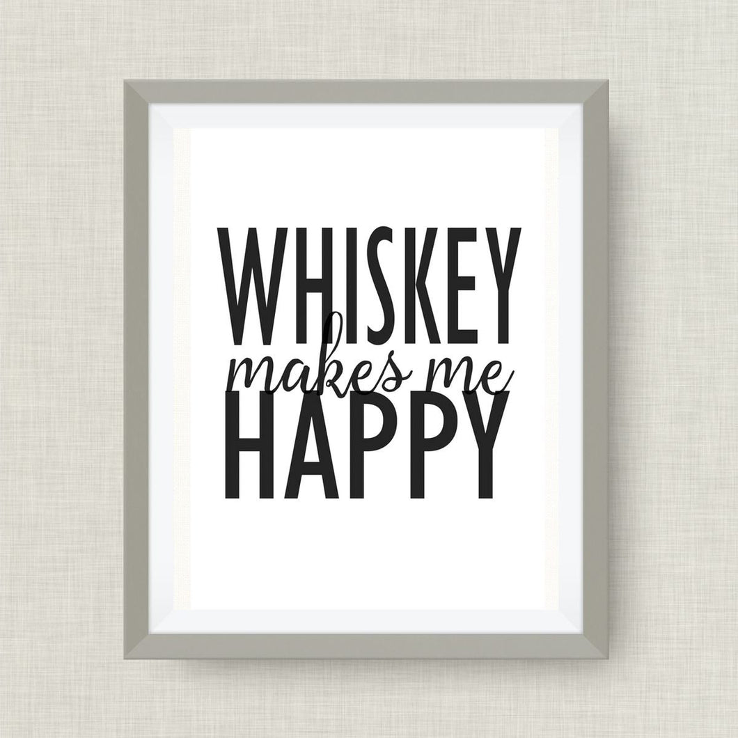 whiskey makes me happy, Option of Real Gold Foil