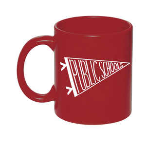 public school spirit mug - red for ed