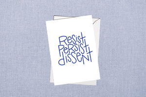 resist persist dissent card - set of 8 - cr2f