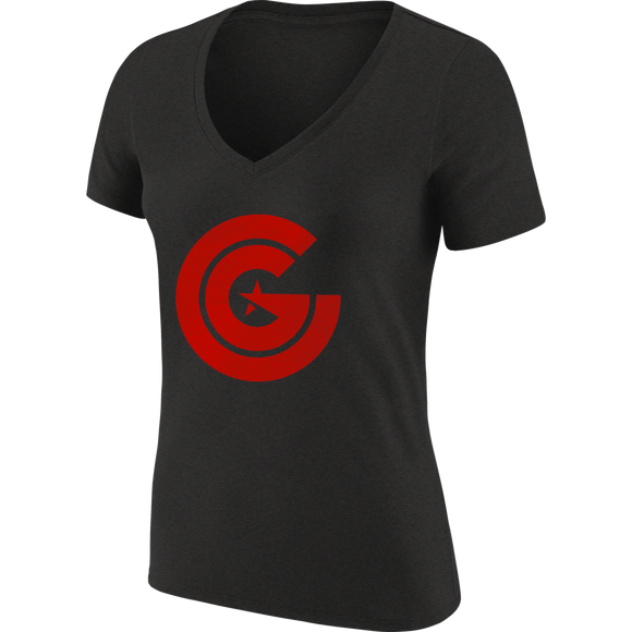 Women's Clutch Gaming Tri-Blend V-Neck Shirt