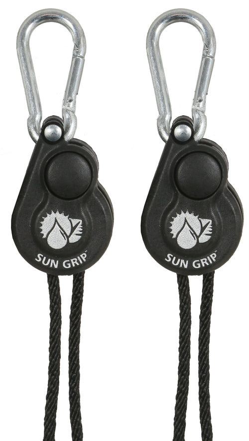 Sun Grip® Push Button Light Hangers 1/8 in - Black