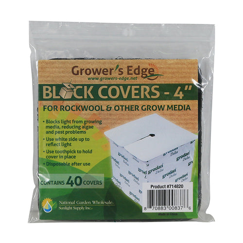 Grower's Edge Block Covers 4 in 40/Pack