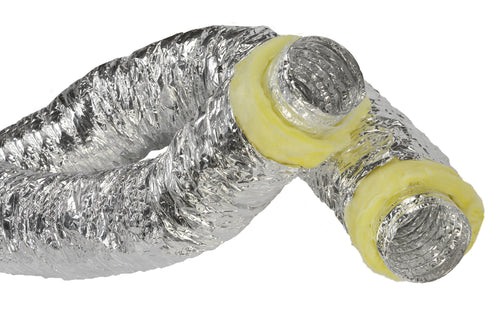 Ideal-Air Silver Insulated Flex Ducting 10 in x 25 ft