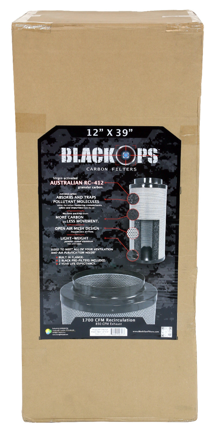 Black Ops Carbon Filter 12 in x 39 in 1700 CFM