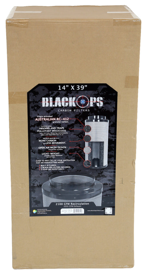 Black Ops Carbon Filter 14 in x 39 in 2100 CFM
