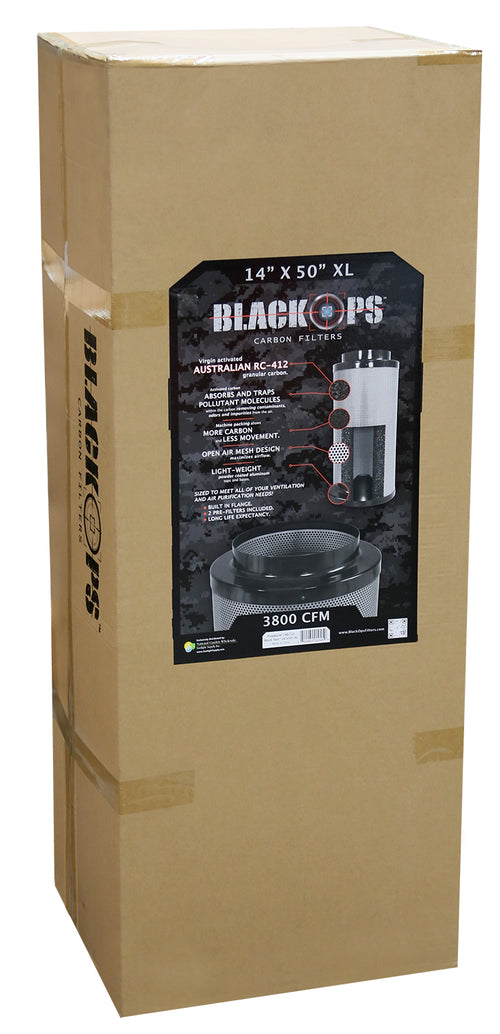 Black Ops Carbon Filter 14 in x 50 in XL 3500 CFM