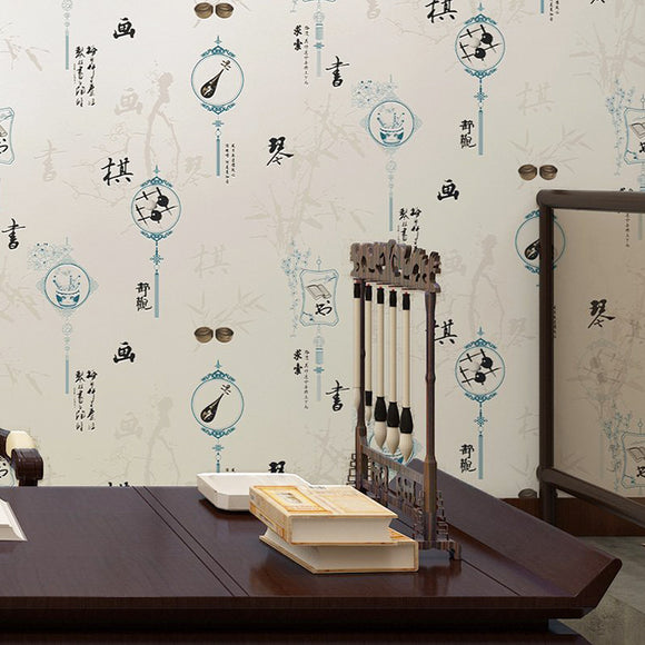 Classic Chinoiserie Wallpaper Chinese Style Wallcovering (5.3 ㎡)