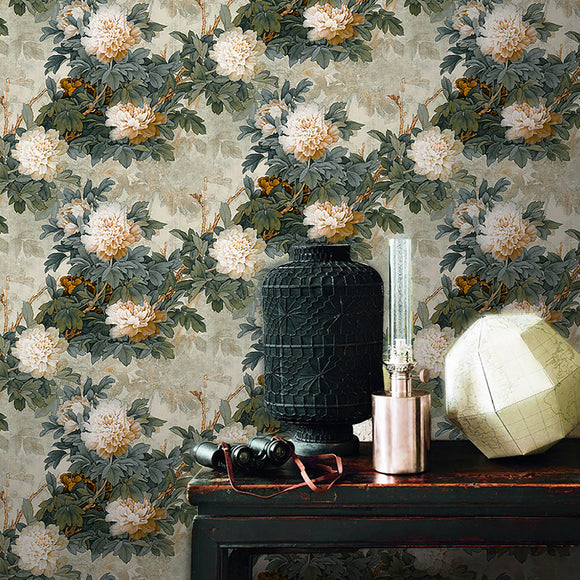 chinoiserie-wallpaper-chinese-style-floral-wallcovering-5.3-㎡
