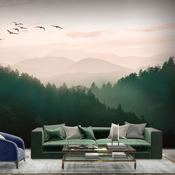 custom-size-wallpaper-mural-foggy-green-mountain-landscape-wallcovering-home-decor
