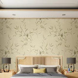 chinoiserie-wallpaper-chinese-style-bamboo-leaves-wallcovering-5.3-㎡