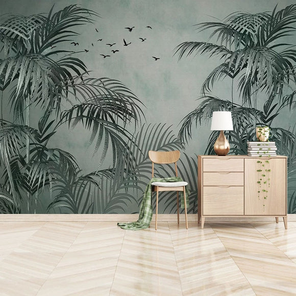 custom-mural-wallpaper-papier-peint-papel-de-parede-wall-decor-ideas-for-bedroom-living-room-dining-room-wallcovering-Self-Adhesive-Wallpaper-3D-Tropical-Plants-Leaf