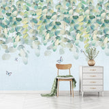 custom-mural-wallpaper-papier-peint-papel-de-parede-wall-decor-ideas-for-wallcovering-Modern-Green-Leaf-Murals-Romantic-Watercolor-Hand-Painted