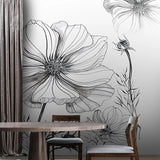 custom-mural-wallpaper-papier-peint-papel-de-parede-wall-decor-ideas-for-bedroom-living-room-dining-room-wallcovering-Modern-Hand-Painted-Black-And-White-Sketch-Flower-abstract