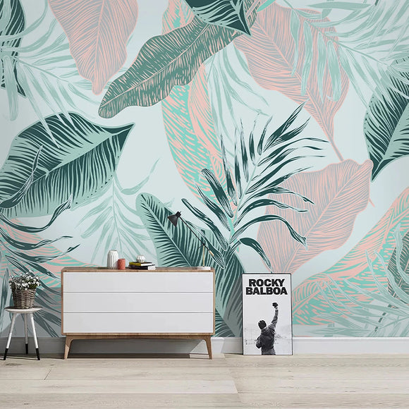 3d-wallpaper-modern-nordic-simple-abstract-lines-tropical-leaves-photo-wall-murals-living-room-tv-bedroom-background-wall-papers