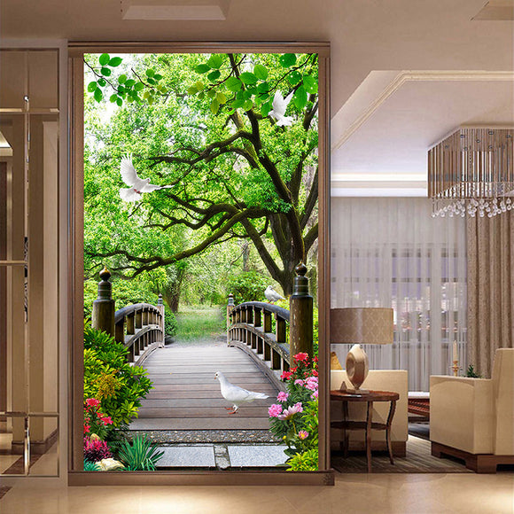 nature-landscape-wallpaper-entrance-mural-hallway-forest