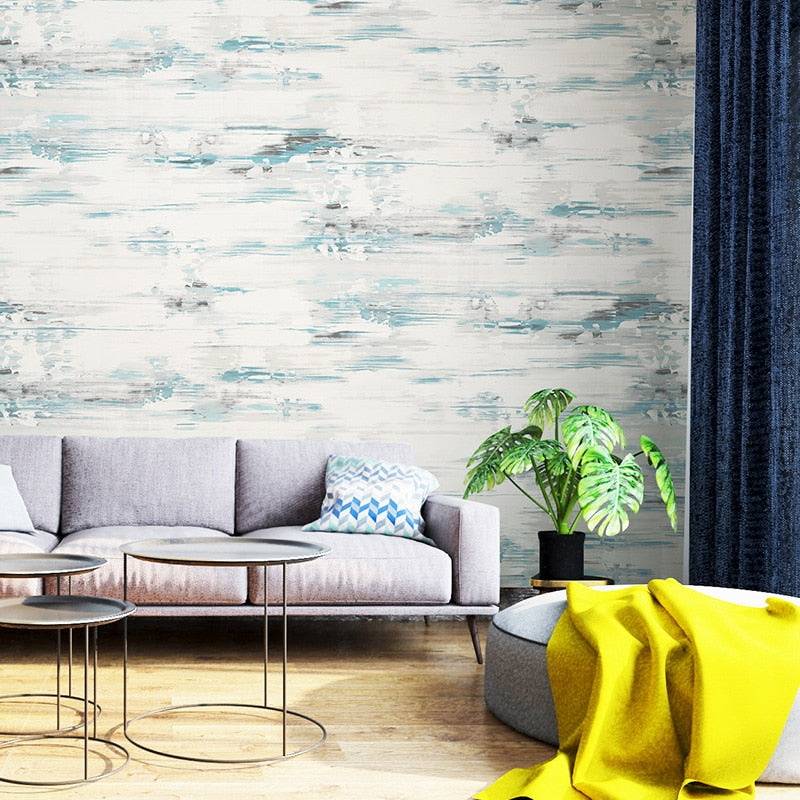 American Industrial Style Abstract Feature Wallpaper