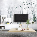 custom-photo-mural-wallpaper-black-and-white-big-tree-snow-scene-forest-bird-background-wall-3d-wallpaper-tapety-papier-peint