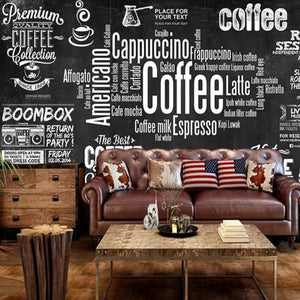 custom-wallpaper-european-chalkboard-newspaper-cafe-retro-tooling-background-wall-black-white-letters-theme-wallpapers-papier-peint