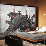custom-wallpaper-peacock-peony-watercolor-sand-painting-style-new-chinese-style-tv-background-wall-murals-3d-wallpaper