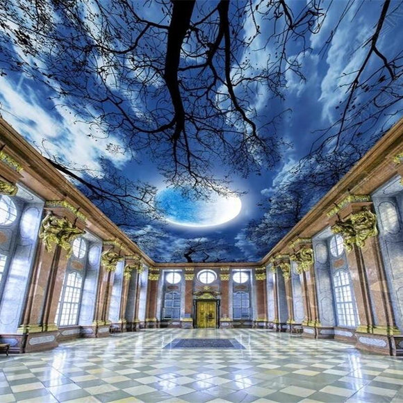 custom-wallpaper-beautiful-moon-starry-sky-tree-forest-sky-zenith-mural-ceiling-painting-home-decoration-3d-wallpaper