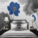 chinese-style-water-ink-lotus-blue-abstract-art-mural-wallpaper-bedroom-study-living-room-tv-backdrop-home-decor-papel-de-parede