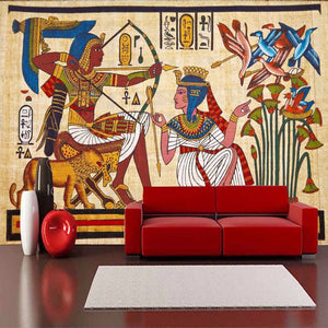 custom-wall-mural-wallcovering-Creative-Wallpaper-egyptian-figures