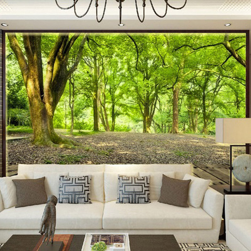 Custom 3D Mural Wallpaper Living Room Bedroom TV Background Non woven Wall Covering Pastoral Forest Nature b4c3ab38 88b2 484a b4dd