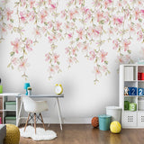 custom-mural-wallpaper-papier-peint-papel-de-parede-wall-decor-ideas-for-bedroom-living-room-dining-room-wallcovering-flowers-floral-pink