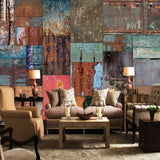 custom-wall-mural-wallcovering-european-retro-iron-sheet-wallpaper-vintage-backdrop-mural