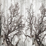 Custom Wallpaper Mural Retro Nostalgic Black and White Woods (㎡)
