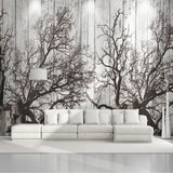 custom-mural-wallpaper-papier-peint-papel-de-parede-wall-decor-ideas-for-bedroom-living-room-dining-room-wallcovering-3D-Retro-Nostalgic-Black-And-White-Woods-Forest