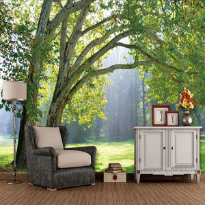 Custom Bvmhome Mural 3d Free Shipping Green Forest